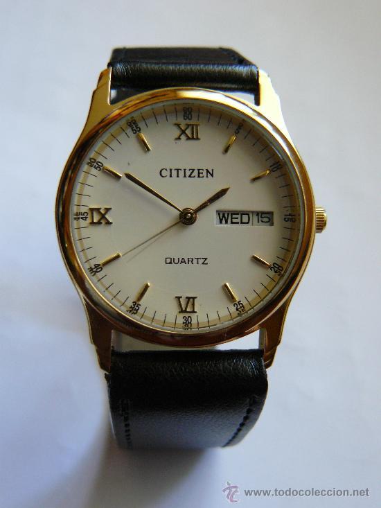 b55a99379bc3 Relojes - Citizen  PRECIOSO RELOJ CITIZEN BAÑO ORO 18 K. CLASICO VINTAGE. -