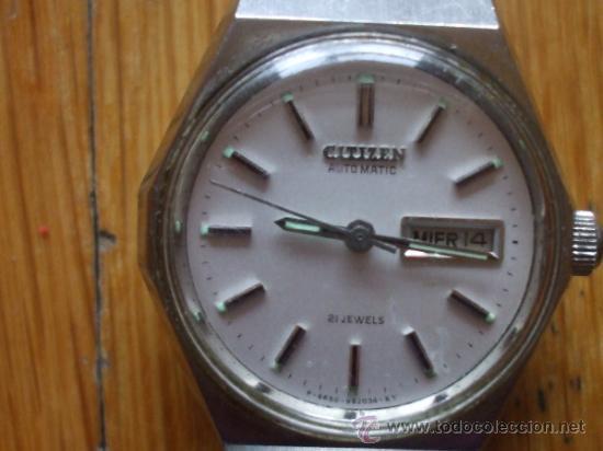 RELOJ CITIZEN , 21 JEWELS, FUNCIONANDO (Relojes - Relojes Actuales - Citizen)