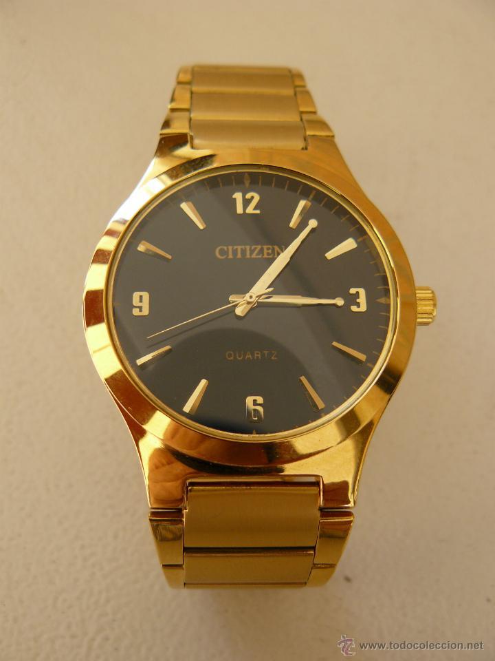 Precioso reloj citizen clasico con ba o de oro comprar - Bano de oro precio ...