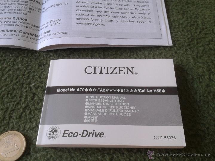 Relojes - Citizen: PRECIOSO RELOJ CITIZEN ECO-DRIVE ECO DRIVE DE CARGA SOLAR CON CRONOGRAFO CON CAJA E INSTRUCCIONES - Foto 4 - 167782510