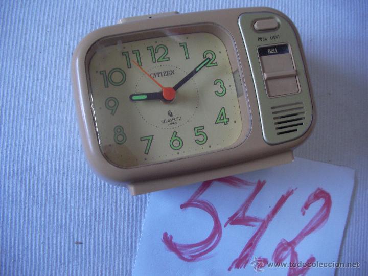 ANTIGUO RELOJ DE SOBREMESA CITIZEN EN BUEN ESTADO (Relojes - Relojes Actuales - Citizen)