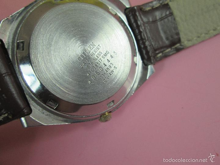 Relojes - Citizen: 15-ANTIGUO RELOJ-JAPÓN-CITIZEN AUTOMATIC-ORIGINAL-PRECIOSO-FUNCIONANDO PERFECT-36 MM.D-VER FOTOS. - Foto 3 - 58136745