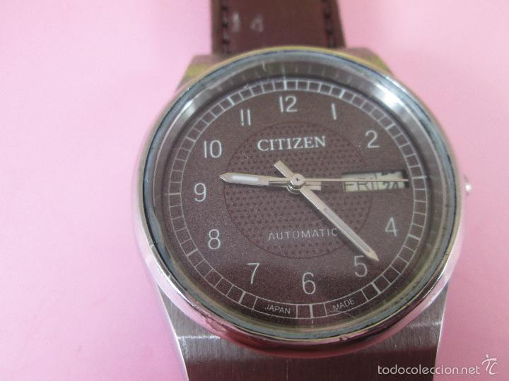Relojes - Citizen: 15-ANTIGUO RELOJ-JAPÓN-CITIZEN AUTOMATIC-ORIGINAL-PRECIOSO-FUNCIONANDO PERFECT-36 MM.D-VER FOTOS. - Foto 4 - 58136745