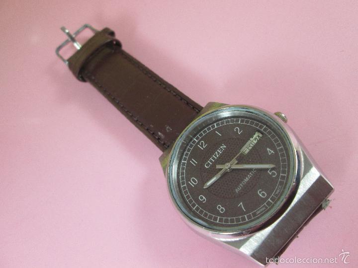Relojes - Citizen: 15-ANTIGUO RELOJ-JAPÓN-CITIZEN AUTOMATIC-ORIGINAL-PRECIOSO-FUNCIONANDO PERFECT-36 MM.D-VER FOTOS. - Foto 5 - 58136745