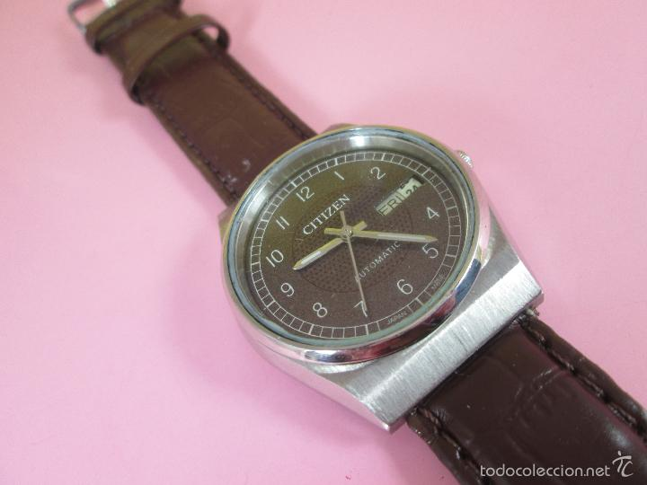 Relojes - Citizen: 15-ANTIGUO RELOJ-JAPÓN-CITIZEN AUTOMATIC-ORIGINAL-PRECIOSO-FUNCIONANDO PERFECT-36 MM.D-VER FOTOS. - Foto 9 - 58136745