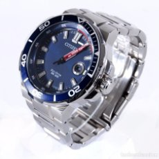 Relojes - Citizen: $475 CITIZEN SOLAR ENDEAVOR NAVY ACERO INOXIDABLE. Lote 69908629