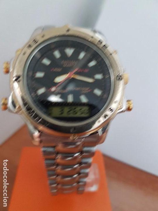 Relojes - Citizen: Reloj de caballero (Vintage) CITIZEN cuarzo, Analógico y digital, cronografo, bicolor, correa acero - Foto 4 - 81947296