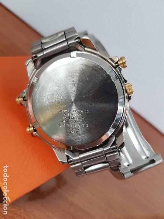 Relojes - Citizen: Reloj de caballero (Vintage) CITIZEN cuarzo, Analógico y digital, cronografo, bicolor, correa acero - Foto 10 - 81947296