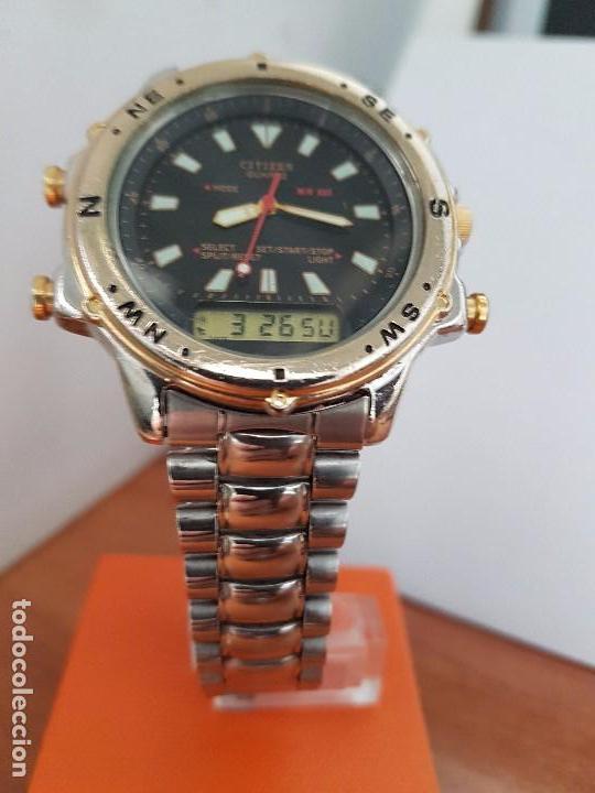 Relojes - Citizen: Reloj de caballero (Vintage) CITIZEN cuarzo, Analógico y digital, cronografo, bicolor, correa acero - Foto 11 - 81947296