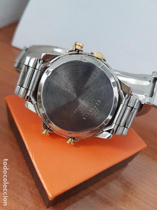 Relojes - Citizen: Reloj de caballero (Vintage) CITIZEN cuarzo, Analógico y digital, cronografo, bicolor, correa acero - Foto 12 - 81947296