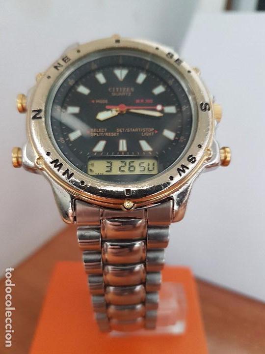 Relojes - Citizen: Reloj de caballero (Vintage) CITIZEN cuarzo, Analógico y digital, cronografo, bicolor, correa acero - Foto 14 - 81947296