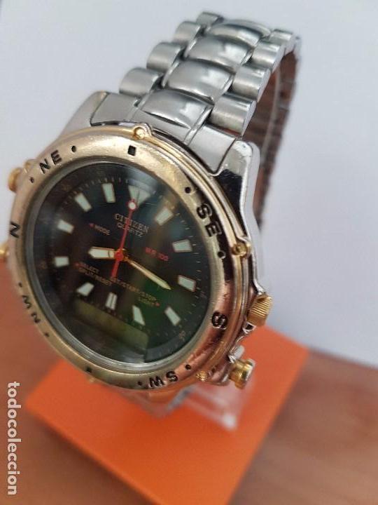 Relojes - Citizen: Reloj de caballero (Vintage) CITIZEN cuarzo, Analógico y digital, cronografo, bicolor, correa acero - Foto 15 - 81947296
