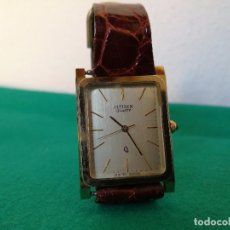 Relojes - Citizen: RELOJ CITIZEN QUARTZ AÑOS 80-90 DORADO CORREA PIEL. Lote 83605420