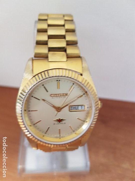 b2777c0d29e77 Relojes - Citizen  Reloj de caballero (Vintage) CITIZEN automático chapado