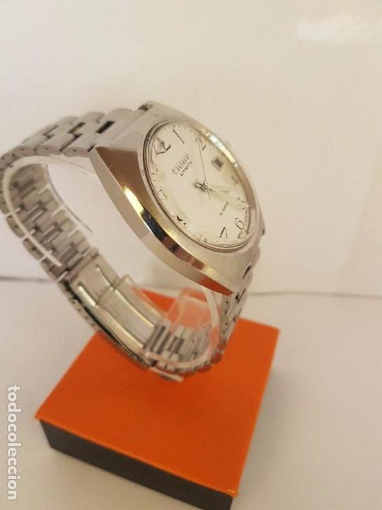 Relojes - Citizen: Reloj de caballero automático CITIZEN en acero, calendario a las tres horas, correa acero original - Foto 4 - 92280900