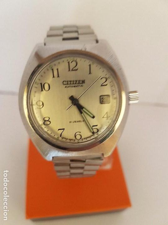 Relojes - Citizen: Reloj de caballero automático CITIZEN en acero, calendario a las tres horas, correa acero original - Foto 6 - 92280900