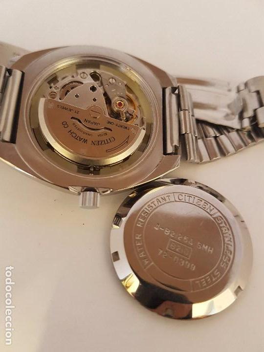 Relojes - Citizen: Reloj de caballero automático CITIZEN en acero, calendario a las tres horas, correa acero original - Foto 8 - 92280900