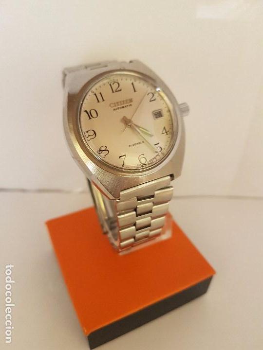 Relojes - Citizen: Reloj de caballero automático CITIZEN en acero, calendario a las tres horas, correa acero original - Foto 9 - 92280900