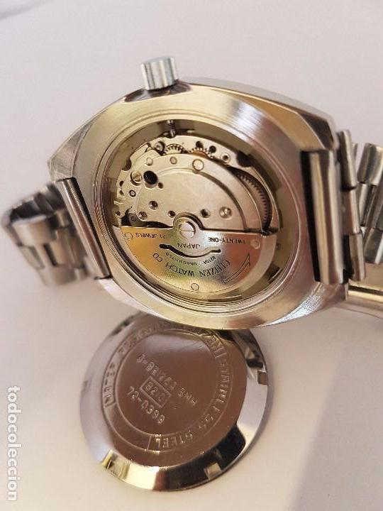 Relojes - Citizen: Reloj de caballero automático CITIZEN en acero, calendario a las tres horas, correa acero original - Foto 12 - 92280900