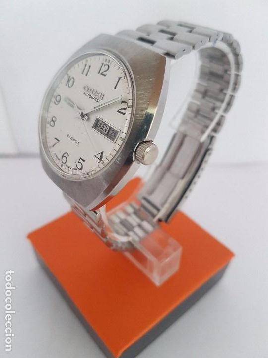 Relojes - Citizen: Reloj caballero (Vintage) CITIZEN automático acero con doble calendario a las tres, correa de acero - Foto 6 - 92341855