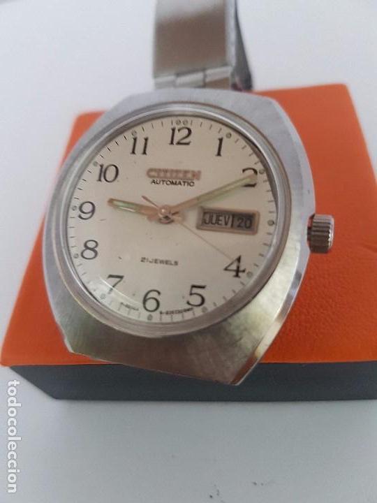 Relojes - Citizen: Reloj caballero (Vintage) CITIZEN automático acero con doble calendario a las tres, correa de acero - Foto 7 - 92341855