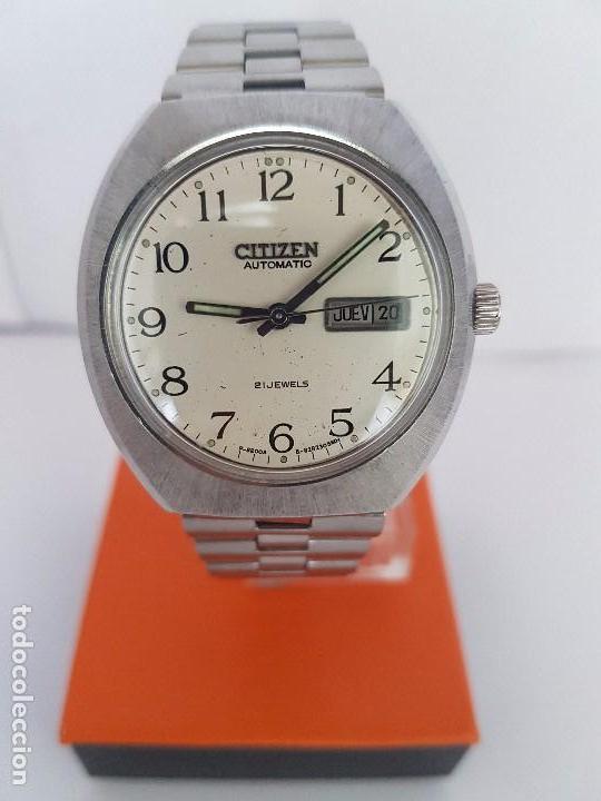 Relojes - Citizen: Reloj caballero (Vintage) CITIZEN automático acero con doble calendario a las tres, correa de acero - Foto 9 - 92341855