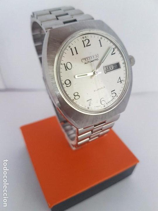 Relojes - Citizen: Reloj caballero (Vintage) CITIZEN automático acero con doble calendario a las tres, correa de acero - Foto 10 - 92341855