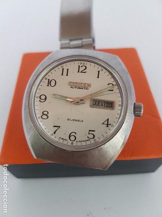 Relojes - Citizen: Reloj caballero (Vintage) CITIZEN automático acero con doble calendario a las tres, correa de acero - Foto 11 - 92341855