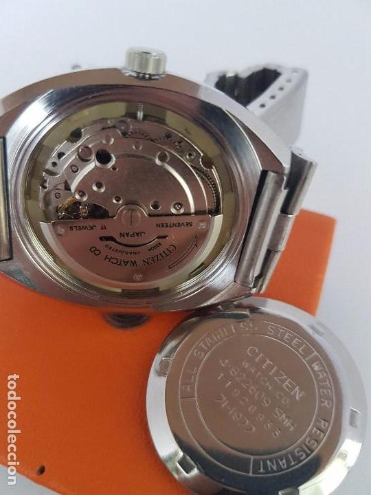 Relojes - Citizen: Reloj caballero (Vintage) CITIZEN automático acero con doble calendario a las tres, correa de acero - Foto 16 - 92341855