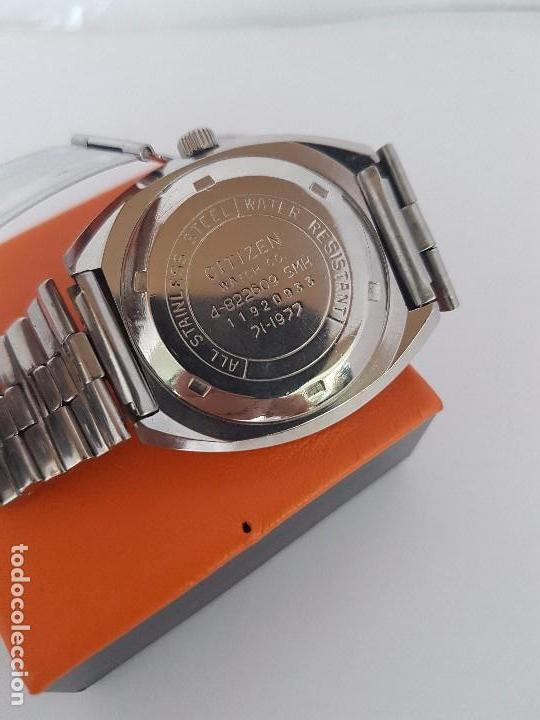 Relojes - Citizen: Reloj caballero (Vintage) CITIZEN automático acero con doble calendario a las tres, correa de acero - Foto 17 - 92341855
