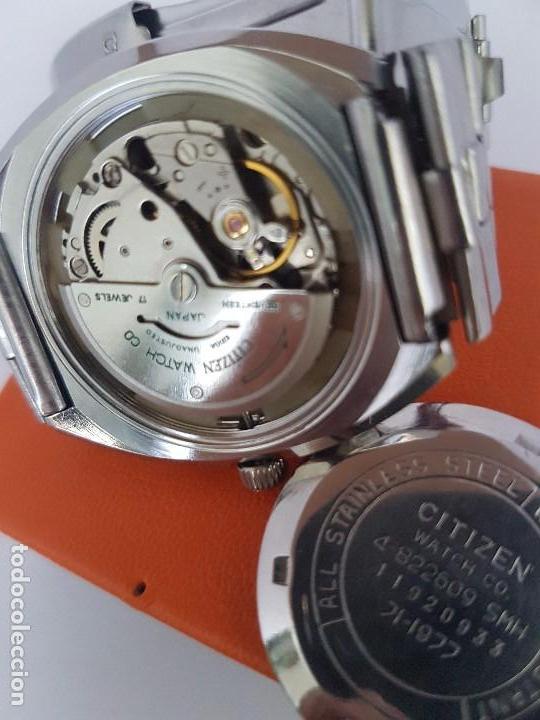 Relojes - Citizen: Reloj caballero (Vintage) CITIZEN automático acero con doble calendario a las tres, correa de acero - Foto 18 - 92341855