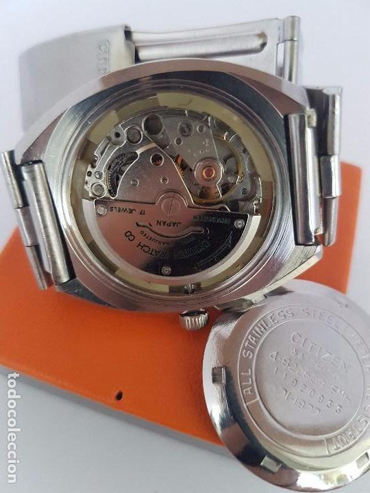 Relojes - Citizen: Reloj caballero (Vintage) CITIZEN automático acero con doble calendario a las tres, correa de acero - Foto 19 - 92341855