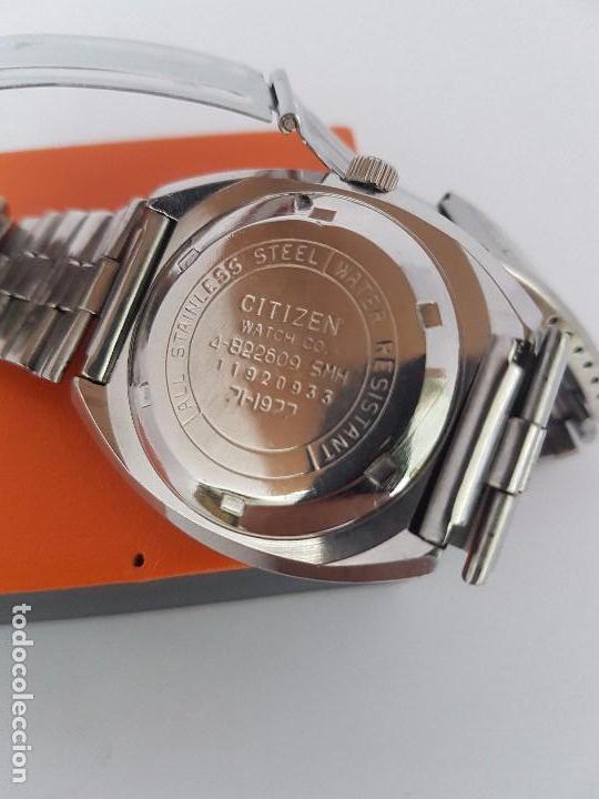 Relojes - Citizen: Reloj caballero (Vintage) CITIZEN automático acero con doble calendario a las tres, correa de acero - Foto 20 - 92341855