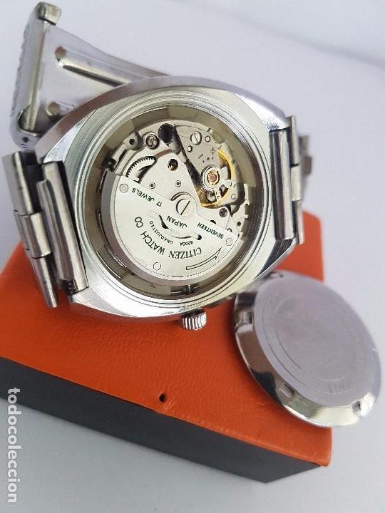Relojes - Citizen: Reloj caballero (Vintage) CITIZEN automático acero con doble calendario a las tres, correa de acero - Foto 21 - 92341855