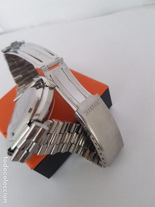 Relojes - Citizen: Reloj caballero (Vintage) CITIZEN automático acero con doble calendario a las tres, correa de acero - Foto 22 - 92341855