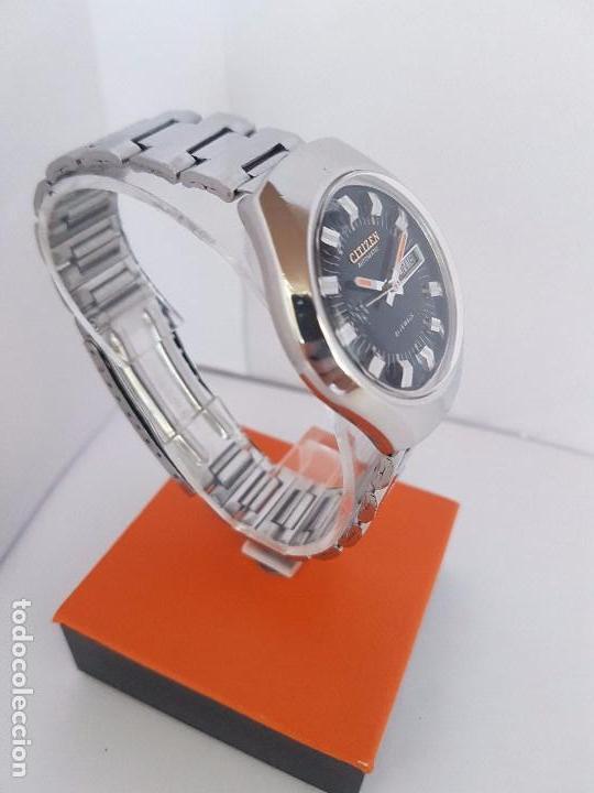 Relojes - Citizen: Reloj caballero (Vintage) CITIZEN automático acero con doble calendario a tres horas correa acero. - Foto 5 - 92369600