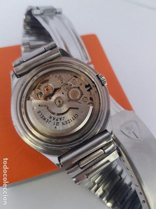 Relojes - Citizen: Reloj caballero (Vintage) CITIZEN automático acero con doble calendario a tres horas correa acero. - Foto 11 - 92369600