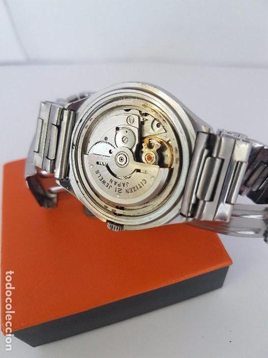 Relojes - Citizen: Reloj caballero (Vintage) CITIZEN automático acero con doble calendario a tres horas correa acero. - Foto 13 - 92369600
