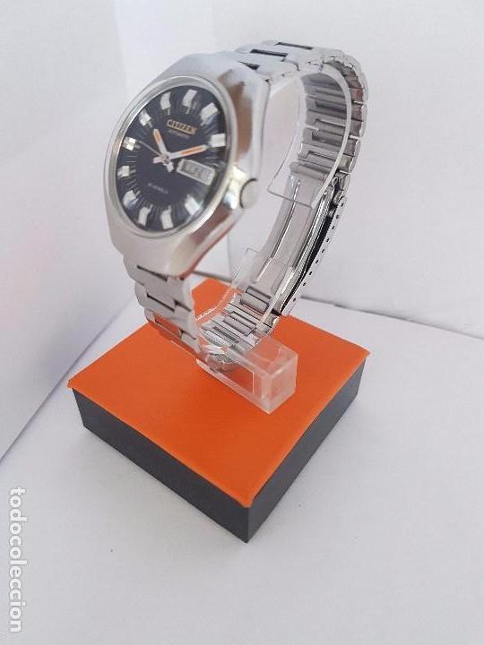Relojes - Citizen: Reloj caballero (Vintage) CITIZEN automático acero con doble calendario a tres horas correa acero. - Foto 14 - 92369600