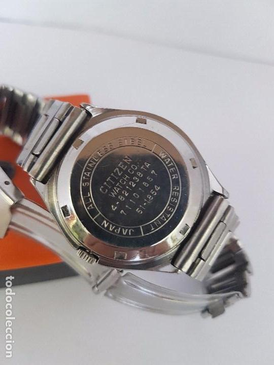 Relojes - Citizen: Reloj caballero (Vintage) CITIZEN automático acero con doble calendario a tres horas correa acero. - Foto 15 - 92369600