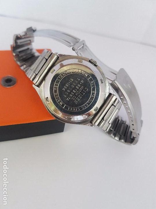 Relojes - Citizen: Reloj caballero (Vintage) CITIZEN automático acero con doble calendario a tres horas correa acero. - Foto 17 - 92369600