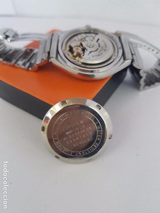 Relojes - Citizen: Reloj caballero (Vintage) CITIZEN automático acero con doble calendario a tres horas correa acero. - Foto 18 - 92369600
