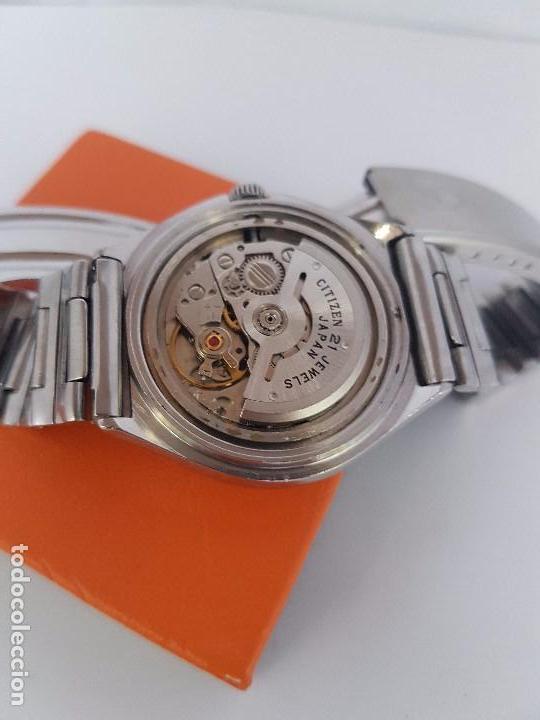 Relojes - Citizen: Reloj caballero (Vintage) CITIZEN automático acero con doble calendario a tres horas correa acero. - Foto 20 - 92369600