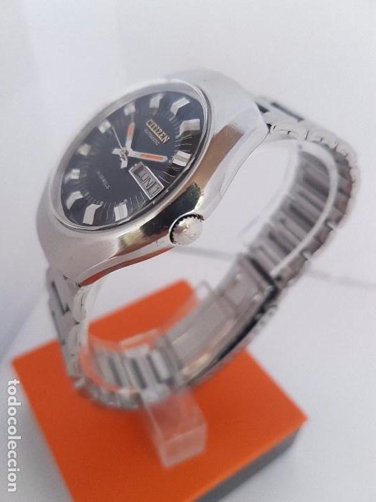 Relojes - Citizen: Reloj caballero (Vintage) CITIZEN automático acero con doble calendario a tres horas correa acero. - Foto 21 - 92369600