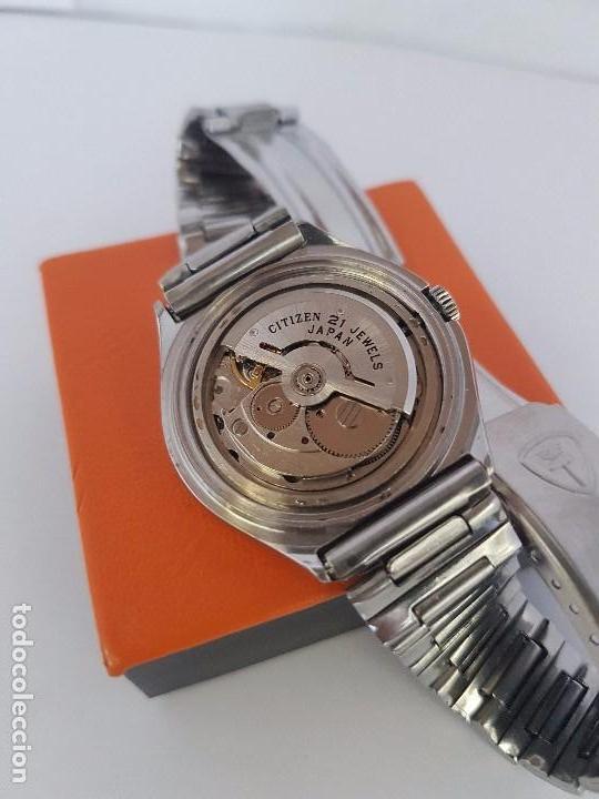 Relojes - Citizen: Reloj caballero (Vintage) CITIZEN automático acero con doble calendario a tres horas correa acero. - Foto 22 - 92369600