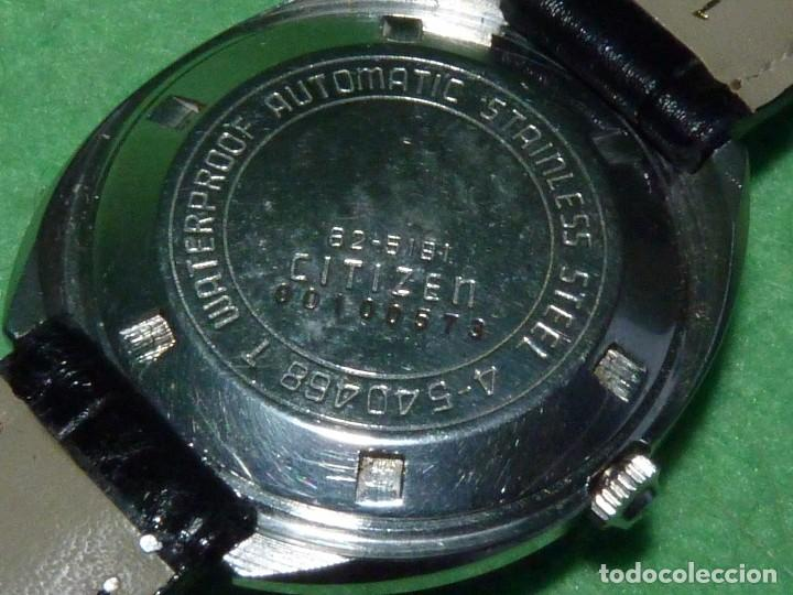 Relojes - Citizen: Raro reloj Citizen 62-5191 waterproof automático 21 rubis 1970 dificil vintage Japan colección - Foto 5 - 96547999