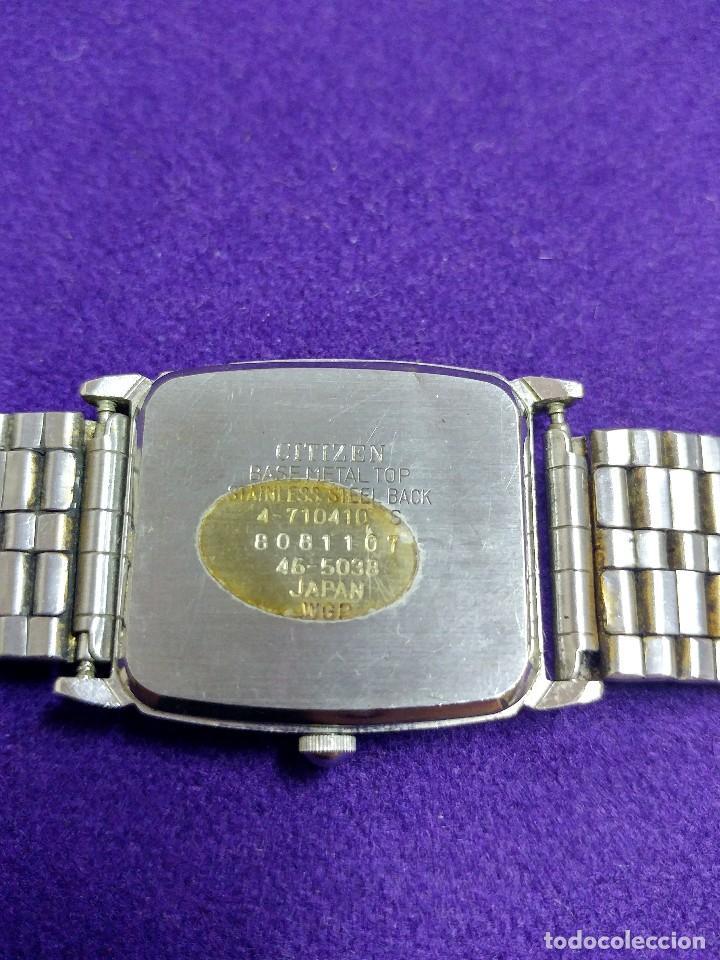 Relojes - Citizen: RELOJ DE PULSERA CITIZEN. EN FUNCIONAMIENTO. QUARTZ. AÑOS 80. SWISS. CABALLERO - Foto 2 - 109180135