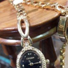 Relojes - Citizen: RELOJ DE PULSERA PARA SEÑORA CITIZEN 23K CHAPADO.FUNCIONA.. Lote 109262339