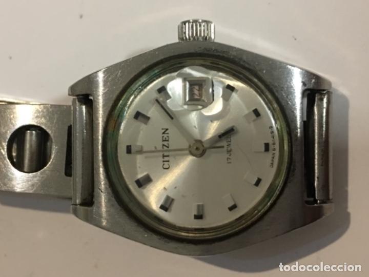 RELOJ CITIZEN CARGA MANUAL CON CORREA DE ACERO VINTAGE EN FUNCIONAMIENTO (Relojes - Relojes Actuales - Citizen)