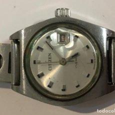 Relojes - Citizen: RELOJ CITIZEN CARGA MANUAL CON CORREA DE ACERO VINTAGE EN FUNCIONAMIENTO . Lote 109586091